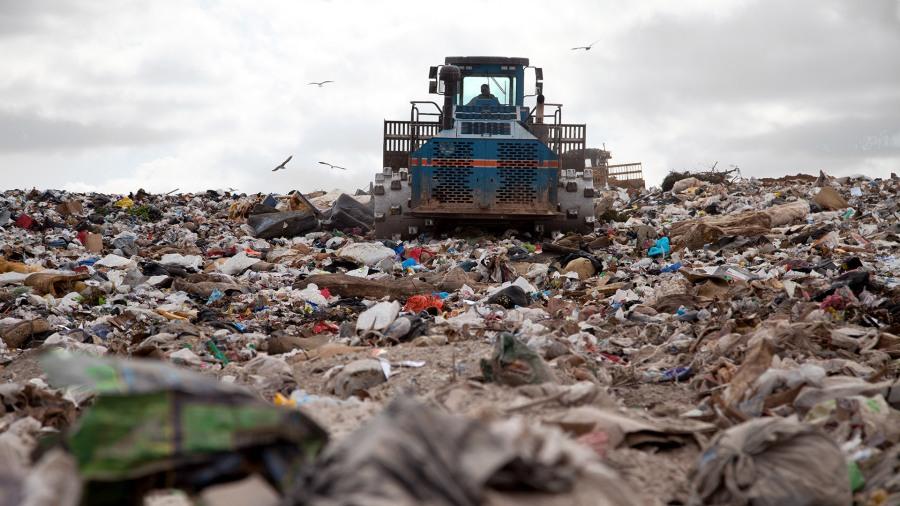 landfill-bulldozer
